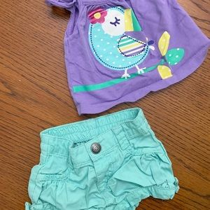Old Navy summer outfit 0-3m